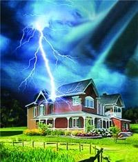 Молниезащита зданий, молниеприемник г.Балахна