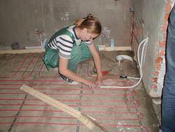 Монтаж электрического теплого пола в Балахне. электрический теплый пол